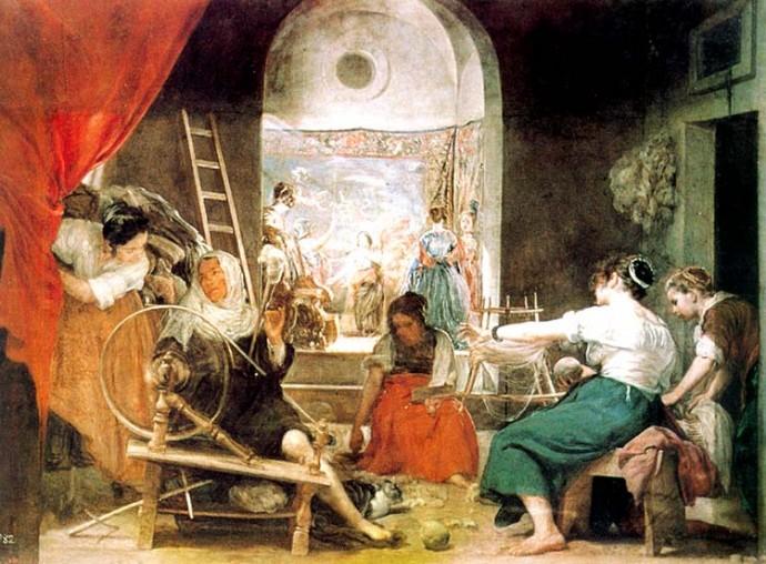 """""""Las Hilanderas"""", Diego Velázquez, 1657. Museo del Prado."""